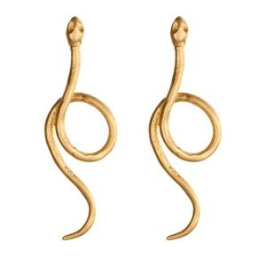 🍁Swirled Snake Drop Earrings